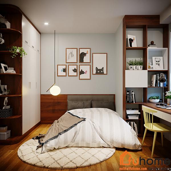 Thiết kế nội thất chung cư 2 phòng ngủ tiện nghi và sang trọng