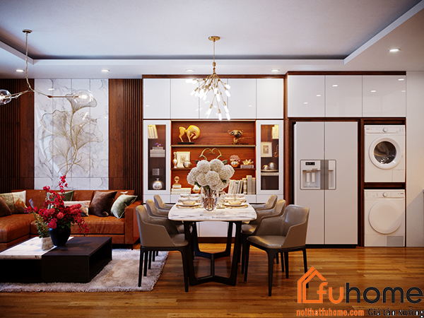 Thiết kế nội thất căn hộ theo phong cách cách vintage