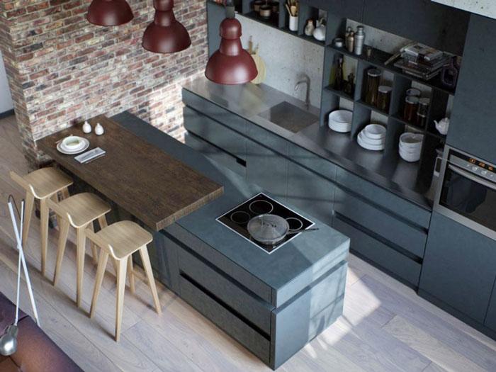 Một số mẫu thiết kế bếp chung cư đẹp, tiện nghi 3