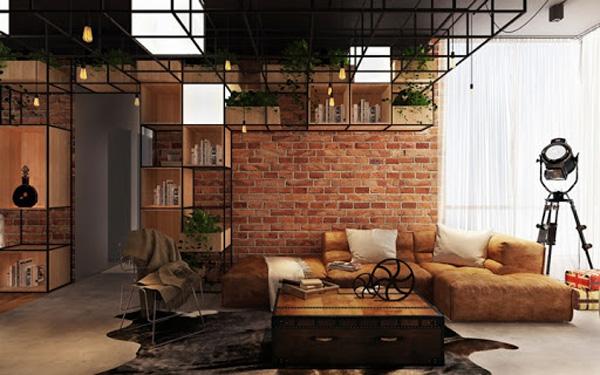 Thiết kế nội thất chung cư giá rẻ phong cách công nghiệp
