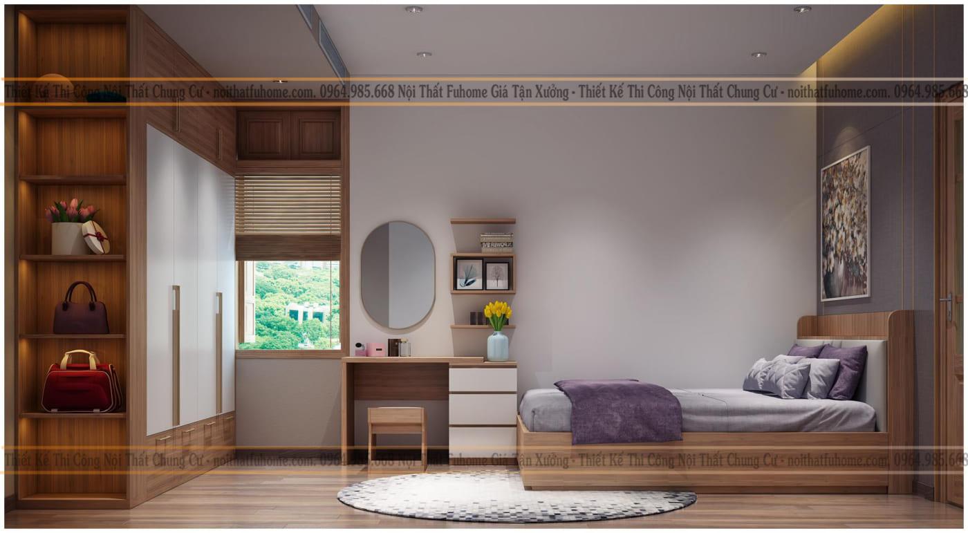 Thiết kế nội thất chung cư 60m2 - Bền đẹp