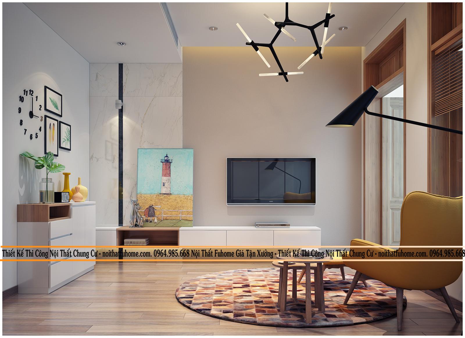 Thiết kế nội thất chung cư 75m2 cho căn hộ đẹp mãn nhãn