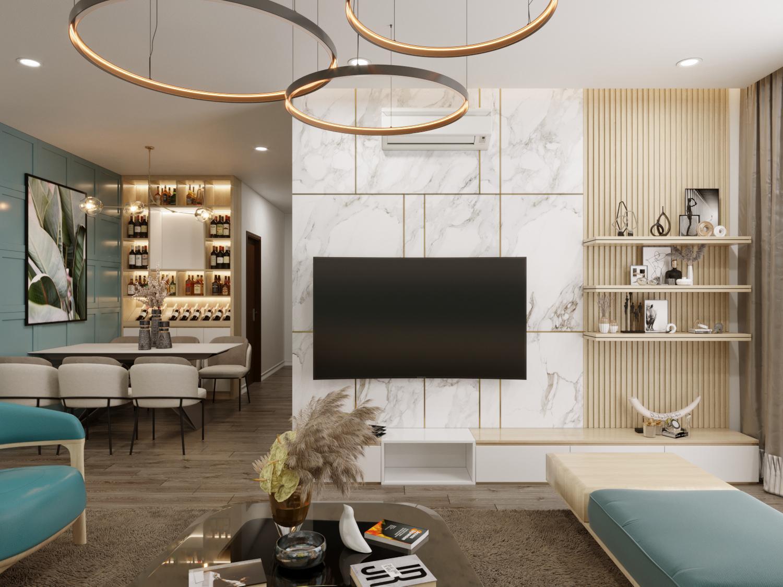 Thiết kế căn hộ chung cư 56m2 cần bố trí các khu vực hợp lý