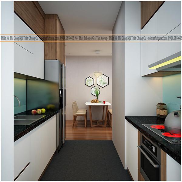 mẫu thiết kê nội thất phong thủy phòng khách và bếp 4