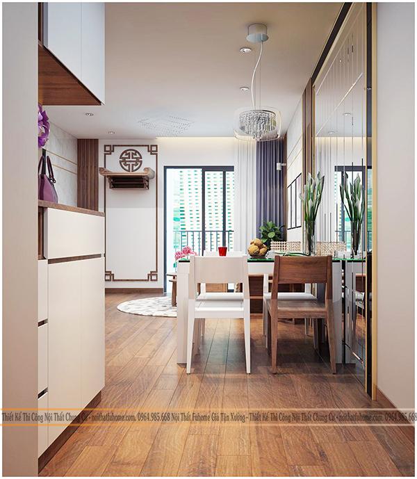 Thiết kế và thi công nội thất công trình nhà anh Long chung cư Hateco 7