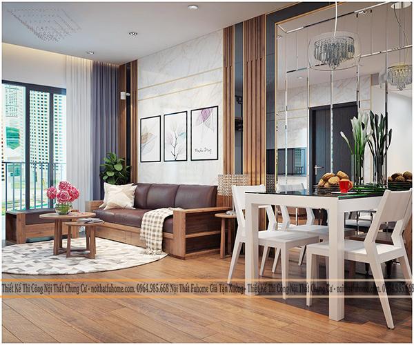 Thiết kế và thi công nội thất công trình nhà anh Long chung cư Hateco 1