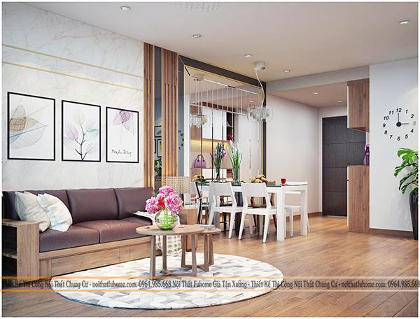 Thiết kế và thi công nội thất công trình nhà anh Long chung cư Hateco 2