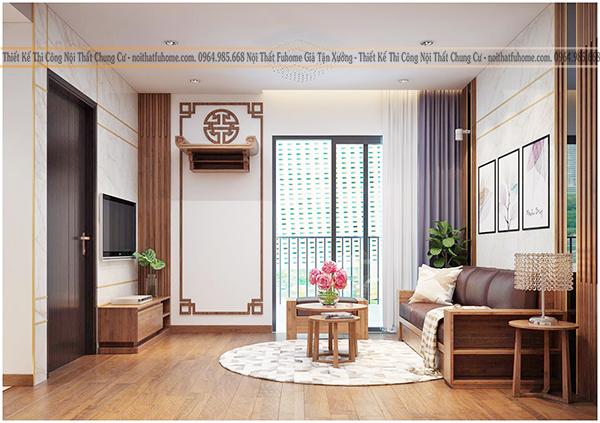 Thiết kế và thi công nội thất công trình nhà anh Long chung cư Hateco 3