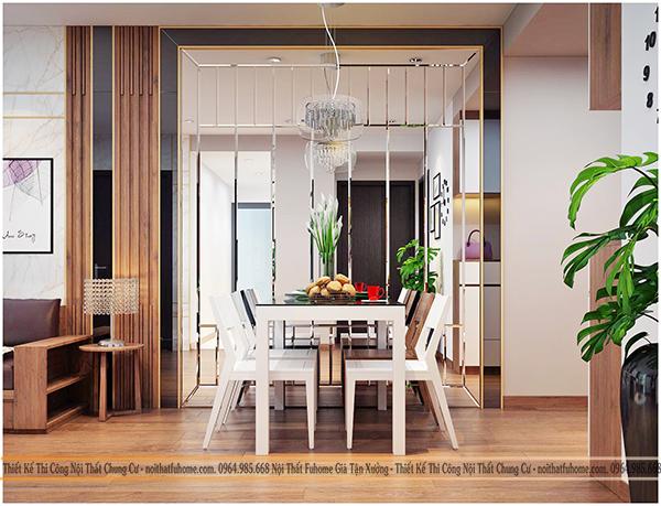 Thiết kế và thi công nội thất công trình nhà anh Long chung cư Hateco 10