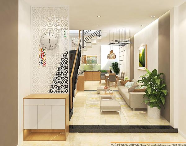 Thiết kế phòng khách biệt thự liền kề