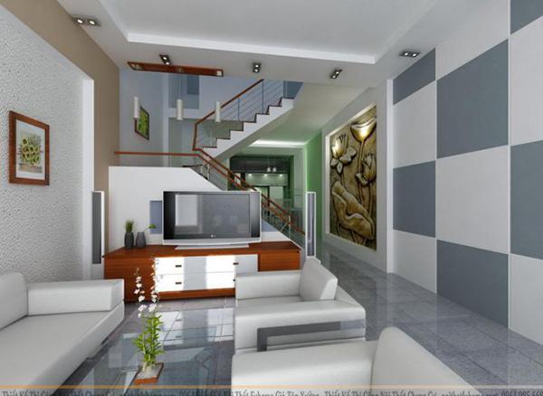 Một số mẫu thiết kế nội thất nhà ở  chọn màu sắc