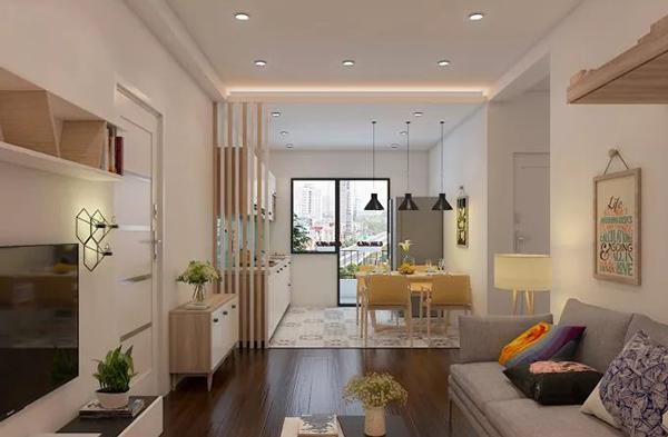 mẫu thiết kế nội thất phòng khách chung cư hiện đại 1
