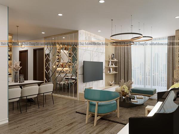 Mẫu thiết kế nội thất căn hộ theo phong cách hiện đại