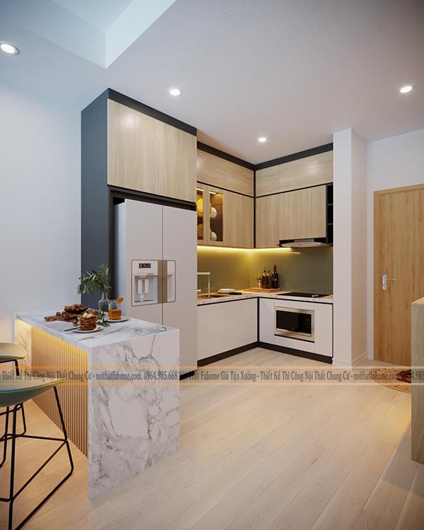 Một số mẫu thiết kế bếp chung cư đẹp, tiện nghi 13