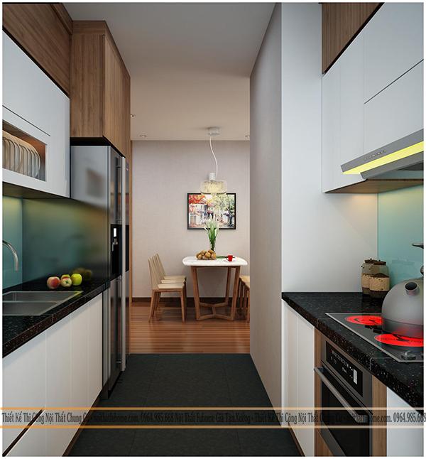Thiết kế bếp trong chung cư Eco Lake View 32 Đại Từ 1