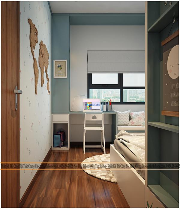 Phòng ngủ trong chung cư Eco Lake View 32 Đại Từ cho bố mẹ 6