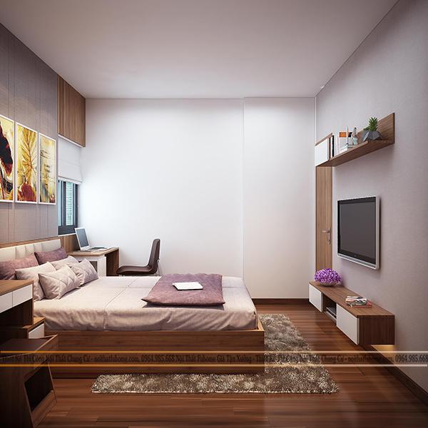 Phòng ngủ trong chung cư Eco Lake View 32 Đại Từ cho bố mẹ 1