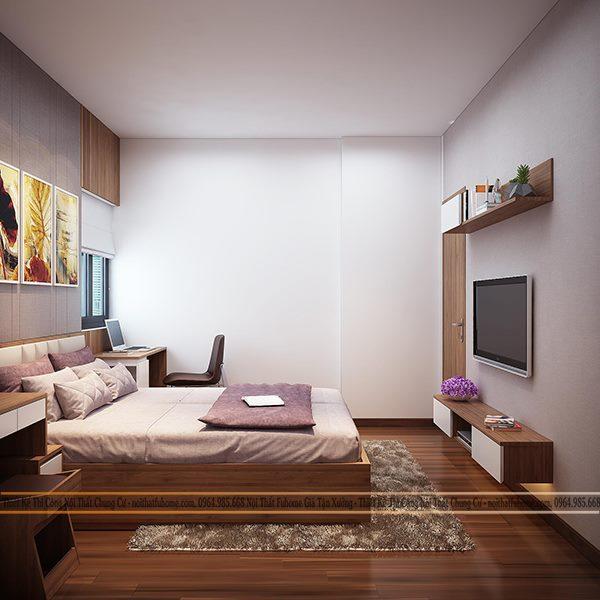 Thiết kế thi công nội thất phòng ngủ theo phong cách hiện đại