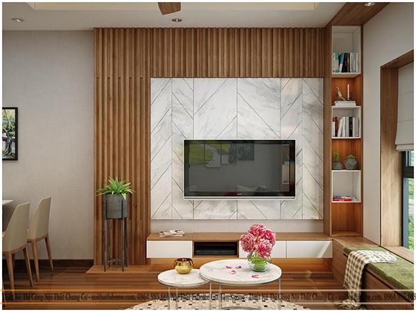 mẫu thiết kế nội thất phòng khách chung cư hiện đại 2