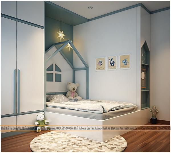 Phòng ngủ trong chung cư Eco Lake View 32 Đại Từ cho bố mẹ 5