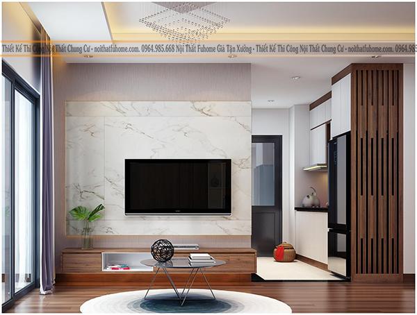 thi công thiết kế nội thất cho phòng khách nhà cấp 4