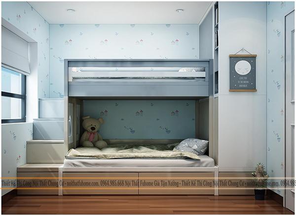 Giường gỗ công nghiệp TP HCM cho trẻ em