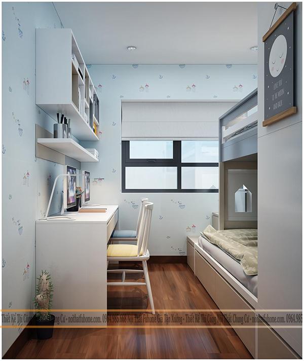 Thi công nội thất chung cư 70m2 công trình nhà anh Vương 4