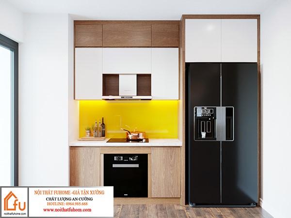 thiết kế phòng bếp nội thất phòng khách nhà anh chị nhung thắng