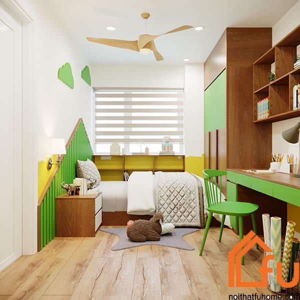 thiết kế phòng ngủ phụ 1 nội thất phòng khách nhà anh chị nhung thắng 2