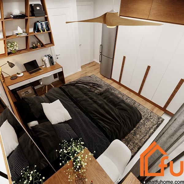 thiết kế phòng ngủ nội thất phòng khách nhà anh chị nhung thắng