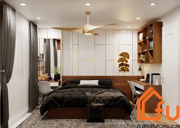 thiết kế phòng ngủ nội thất phòng khách nhà anh chị nhung thắng 1