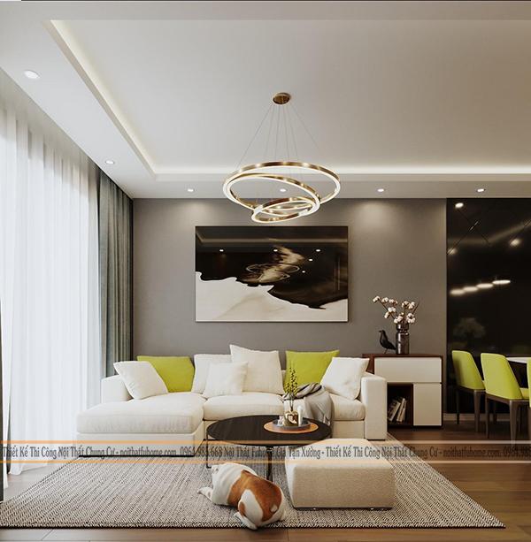 Nội thất Fuhome - Địa chỉ thi công thiết kế nội thất phòng khách chung cư giá rẻ