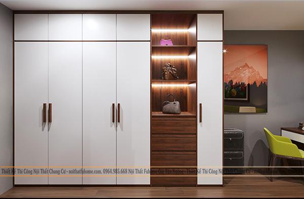 Thiết kế thi công nội thất chung cư 70m2 nhà chị Mai 4