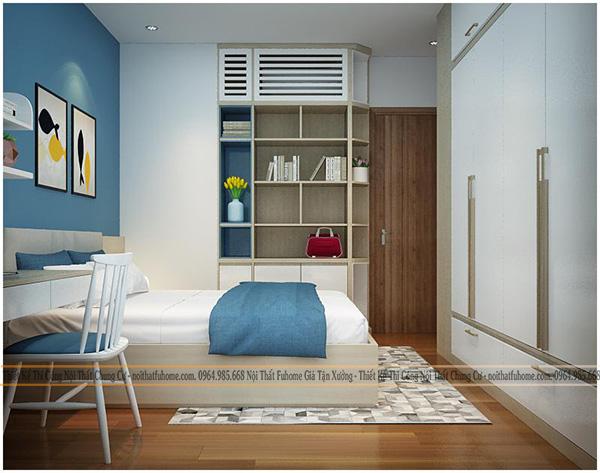 thi công thiết kế nội thất phòng ngủ của con nhà cô vân