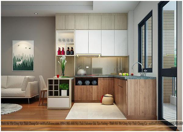 Một số mẫu thiết kế bếp chung cư đẹp, tiện nghi 11