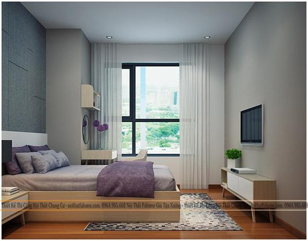 Thi công thiết kế nội thất phòng ngủ master