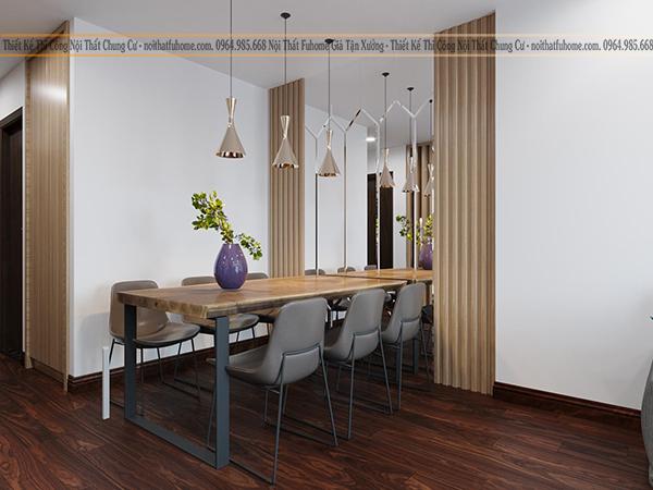 Công trình thi công nội thất nhà Anh Dũng phòng khách liền với bếp