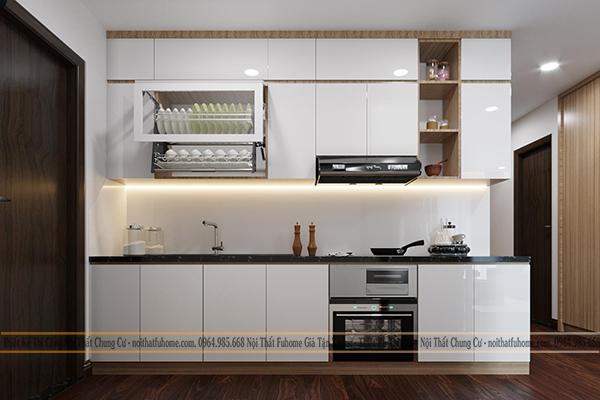 Công trình thi công nội thất nhà Anh Dũng phòng bếp