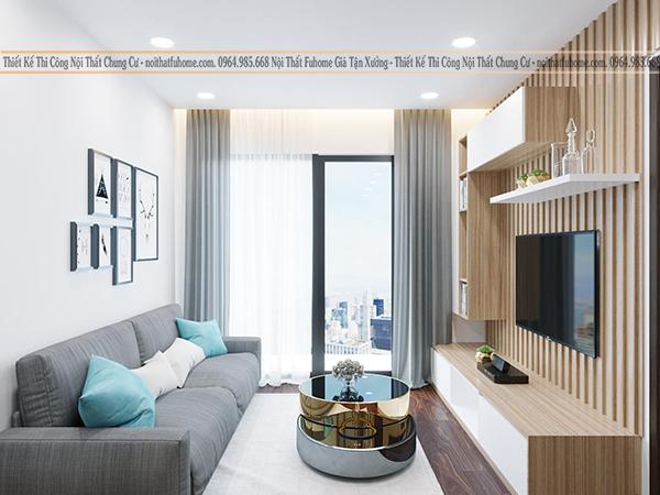 Phong cách thiết kê thi công nội thất phòng khách xu hướng Scandinavian