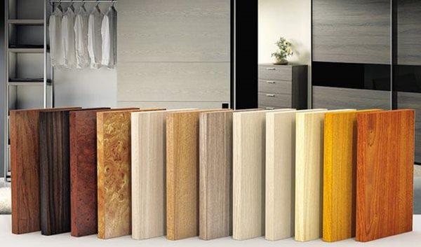 Các loại gỗ công nghiệp có nhiều màu sắc và kiểu dáng