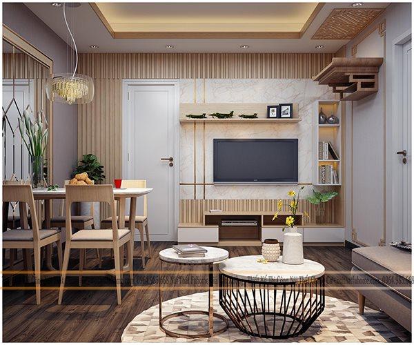 Lưu ý khi thiết kế thi công nội thất phòng khách