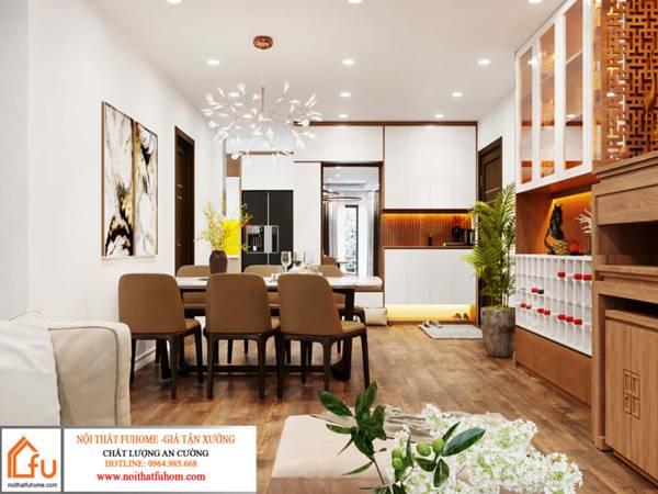 thiết kế mẫu phòng khách cho người mệnh Thổ