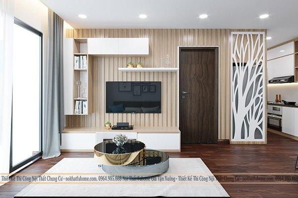 Nội thất Fuhome - Địa chỉ thiết kế thi công nội thất phòng khách chung cư nhỏ uy tín