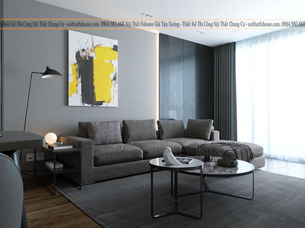 Thiết kế nội thất chung cư giá rẻ phong cách tối giản