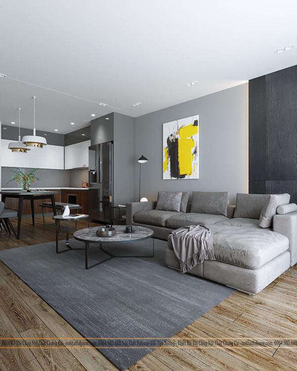 Thiết kế thi công nội thất chung cư trọn gói – Công trình nhà chị Giang Tân Mai, Hoàng Mai, Hà Nội
