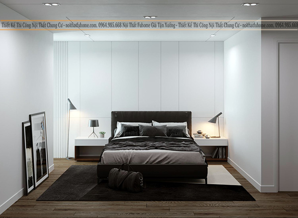 Thiết kế thi công nội thất phòng ngủ theo phong cách đơn giản