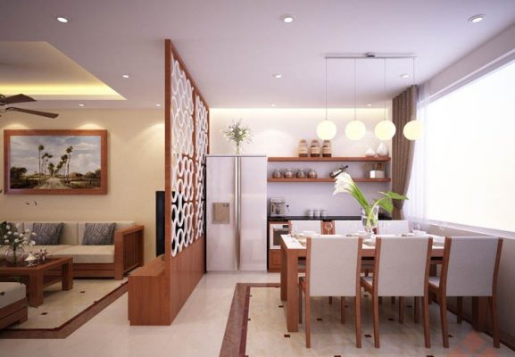 Cách bố trí các khu vực chức năng khi thiết kế căn hộ 65m2 1