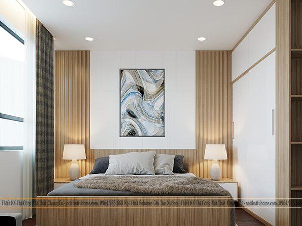 Công trình thiết kế nội thất phòng ngủ chung cư nhà anh Quang