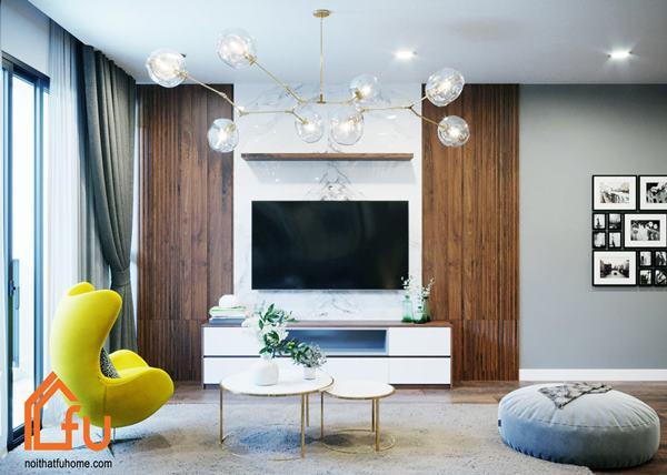 Công trình thi công và thiết kế nội thất nhà ở chung cư - Anh Hoàng - Chi phí đầu tư 86tr