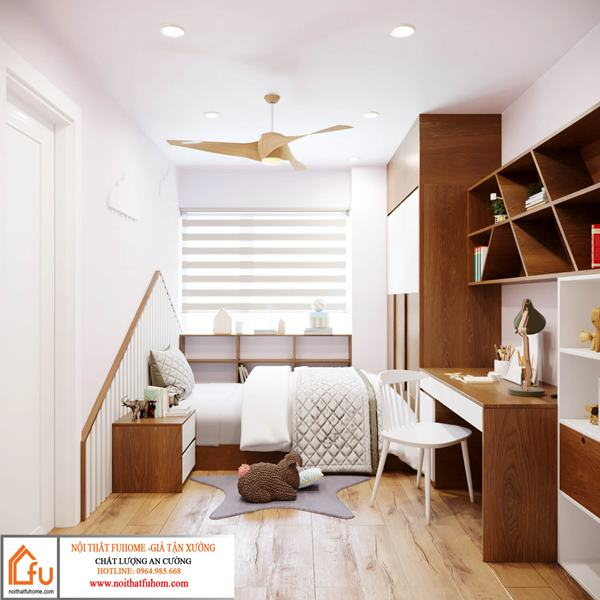 Thiết kế nội thất chung cư phòng ngủ phong cách hiện đại